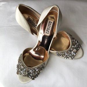Badgley Mischka Ivory Candace Heels